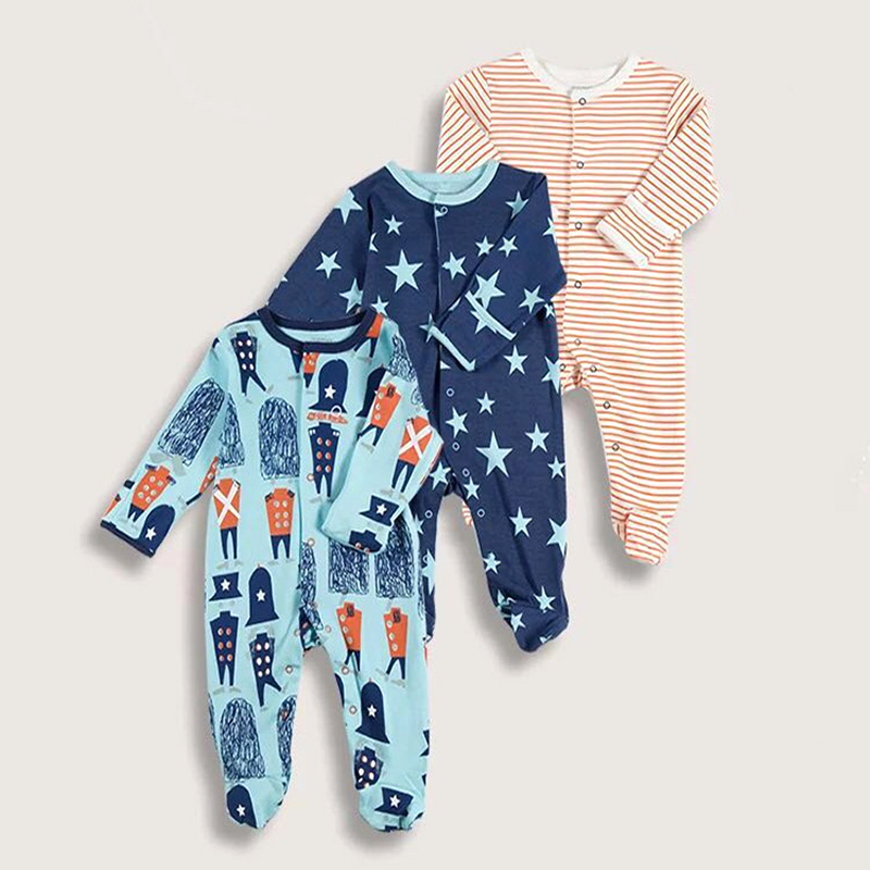 3pcs/lot Good Quality Newborn Rompers Baby Girl Clothes Long Sleeve Autumn Baby Jumpsuits Cotton New Style Kids Boys Clothing branded new quality cotton newborn baby girl clothing clothes romper creepers jumpsuits ropa bebe baby girls rompers long sleeve