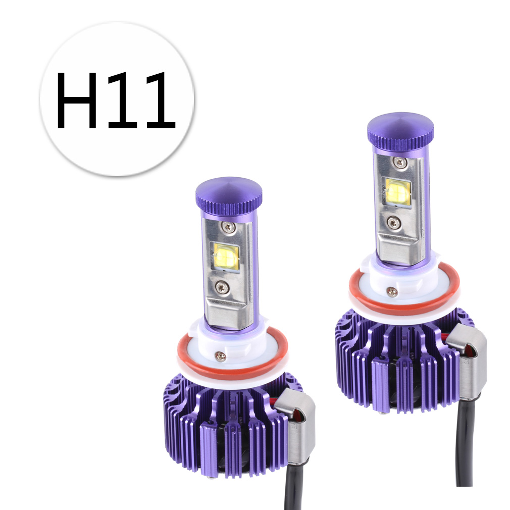 2PCS 60W 6,000Lm H11 H9 H8 Cree Chips LED Headlight Bulbs Conversion Kit - DIY your Color - Replaces Halogen and Xenon HID Bulbs 2pcs 60w 6 000lm h11 h9 h8 cree led chip headlight bulbs conversion kit diy your color replaces bulbs d035