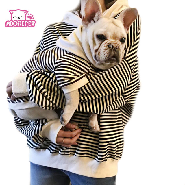 239bbed5 Family Clothes For Dog Small Big Large Dog Clothes Coat Jacket Strip Dog  Hoodie Shirt Adult