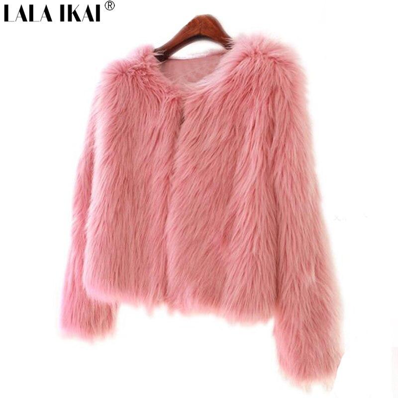 Ragazza Faux Coat Fur Della Pelliccia Tuta Sportiva Rosa UUqrTpwx6