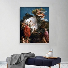 Laeacco Canvas Calligraphy Painting Time Unveiling Truth Rubens Classic Posters and Prints Wall Pictures Living Room Home Decor