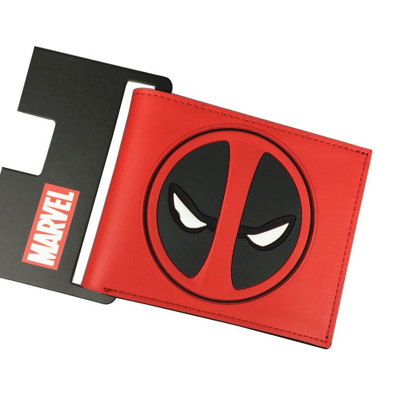 2017 Hot New Dead Pool Wallets Gift Boy Men Anime Purse carteira masculina Dollar Price Waterproof Deadpool PVC Short Wallet dc movie hero bat man anime men wallets dollar price short feminino coin purse money photo balsos card holder for boy girl gift