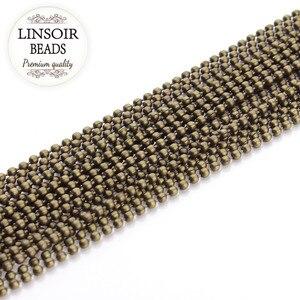 Античная бронзовая цепочка из цветных шариков, 10 м/лот, 1,2/1,5/2,0/2,4/3,2 мм, для самостоятельного изготовления ожерелий и браслетов