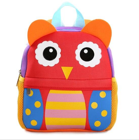 Creative 3D Cute Animal Design Backpack Kids School Bags For Girls Boys Cartoon Shaped Children Backpacks With Ten Kinds L378