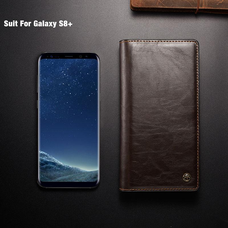 Funda de cuero para Samsung Galaxy A8 2018 S9 S8 Plus Funda Cartera - Accesorios y repuestos para celulares - foto 5