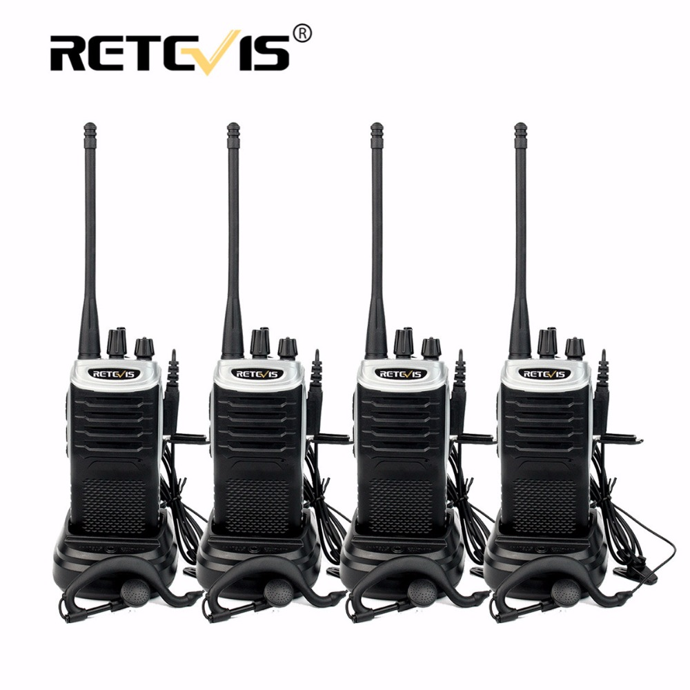 4 pcs Retevis RT7 Talkies-walkies 5 w 16CH UHF Émetteur-Récepteur FM Radio (88-105 mhz) scan Portable Radio Amador De Poche 2 Way Radio Set
