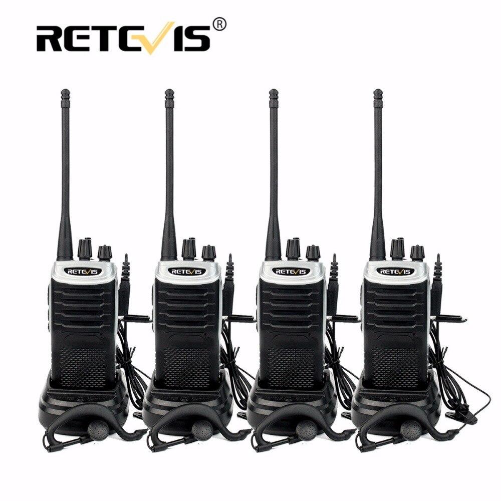 4 pz Retevis RT7 Walkie Talkie 5 w 16CH UHF Ricetrasmettitore Radio FM (88-105 mhz) scan Radio Portatile Amador Portatile 2 Way Radio Set