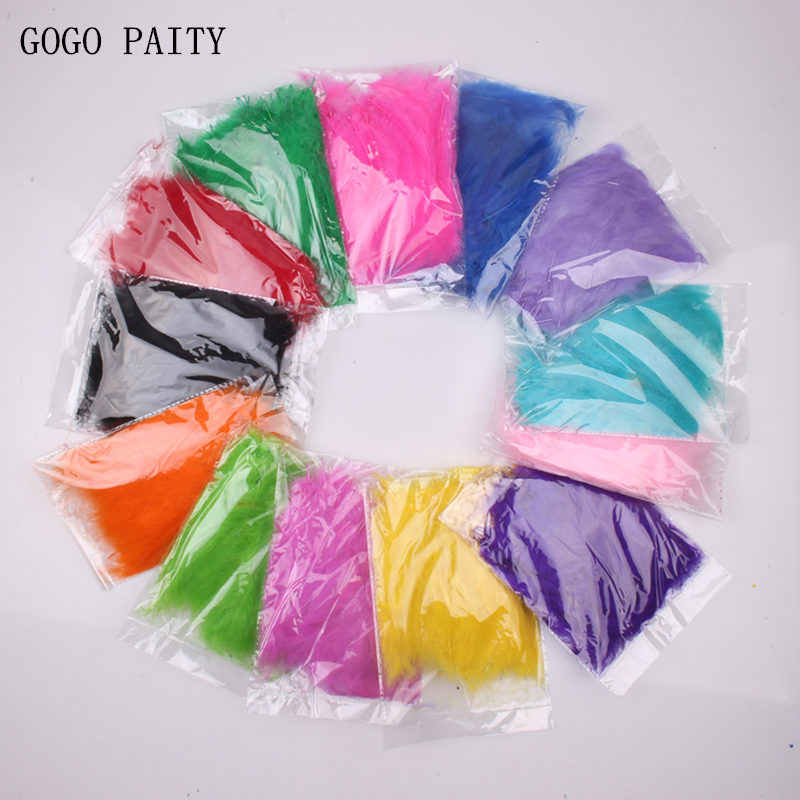 GOGO PAITY  1 bag of 100pcs rainbow-colored natural feathers transparent balloon accessories children's festive party arrangemet