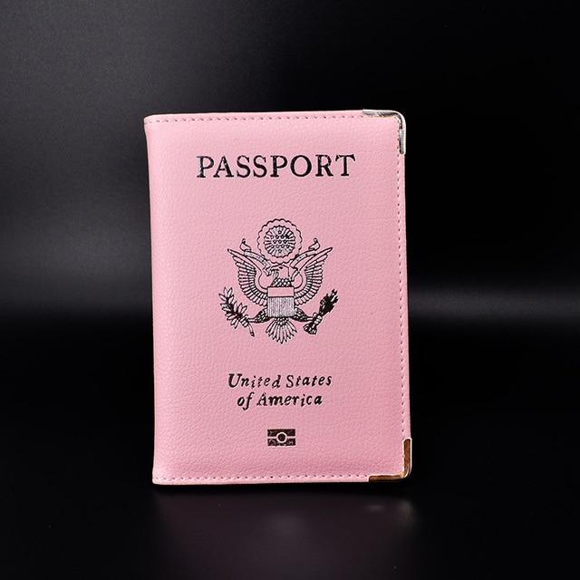Leather Travel Cute Women Passport Case US Passport Holder Paspoorthoesje Girls Women...