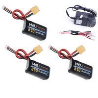 VHO 7 4V 850mAh 2S 25C Lipo Battery LiPo 2s Remote Control Plane 3PCS 2S T