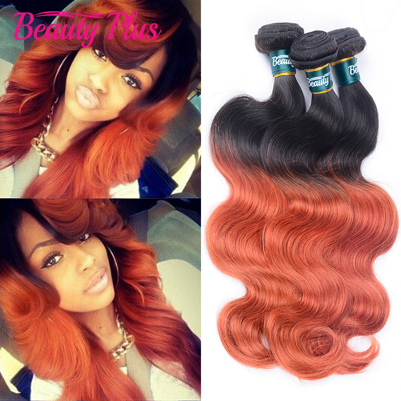 Aliexpress buy hot queen highlighted color 35099j virgin brazilian two toned 1bs350 quick weave pmusecretfo Images