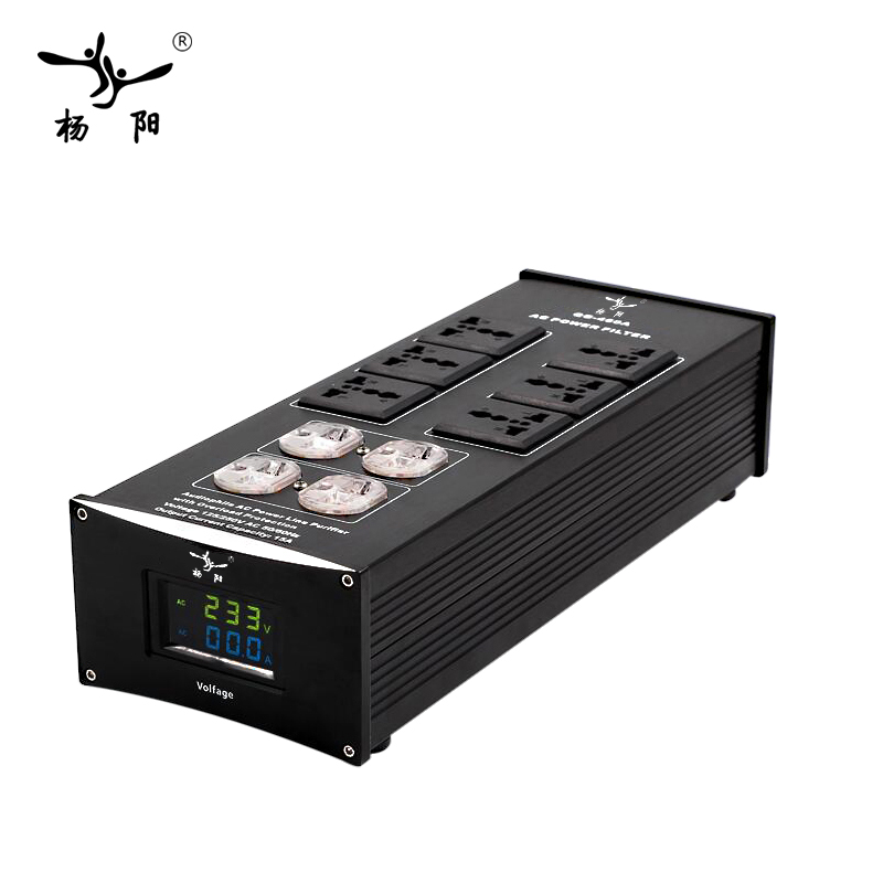 YYAUDIO HIFI Power filter YY 460 power supply socket lightning protection with voltage display