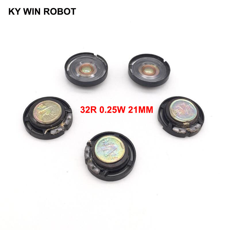 5pcs/lot New Ultra-thin Speaker Doorbell Horn Toy-car Horn 32 Ohms 0.25 Watt 0.25W 32R Speaker Diameter 21MM 2.1CM Thickness 7MM