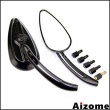 Rearview-Mirrors Softail Teardrop Sportster Universal Motorcycle Adjustable Harley Black