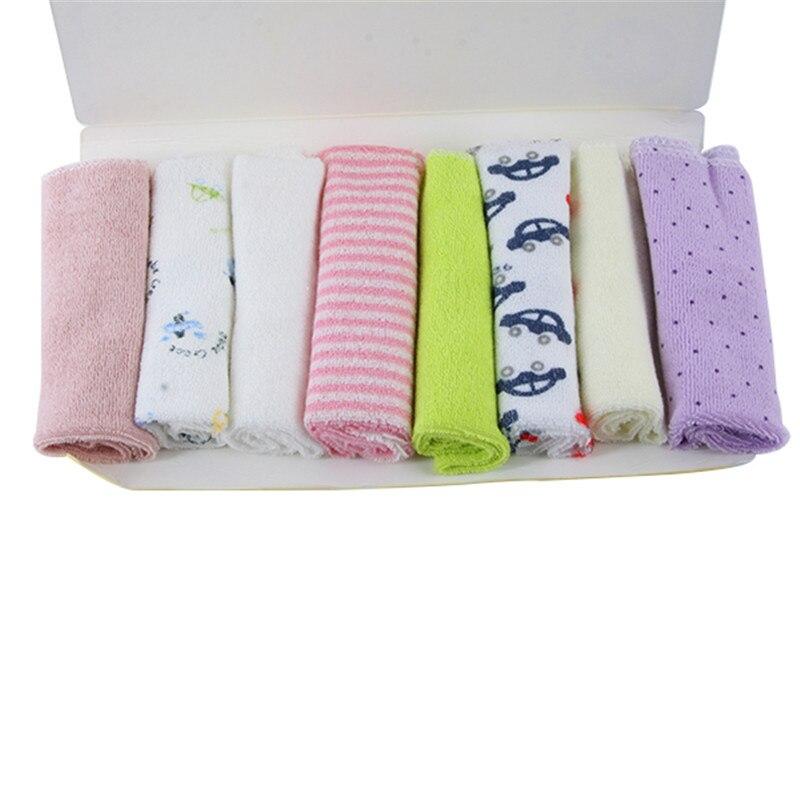 Baby Soft Bath Washing Handkerchief Towels Multi Colors Cotton Washcloth Wipe Hand Face Cloth