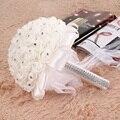 Белой Пены Розы Искусственный Цветок Невесты Букет Партия Декор Пена Букет Роз для Свадьбы Украшения
