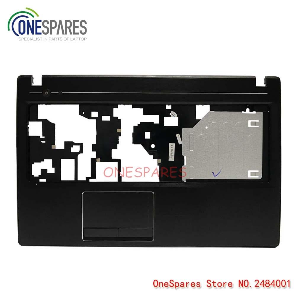 NEW Laptop LCD Plamrest Touchpad Capa Top Case Para Lenovo IdeaPad Série G580 Maiúsculas AM0N2000100 C Shell