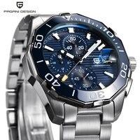 PAGANI DESIGN Men Watch Luxury Brand Waterproof Sport Quartz Chronograph Steel Business Watch Male Clock relogio masculino Saat