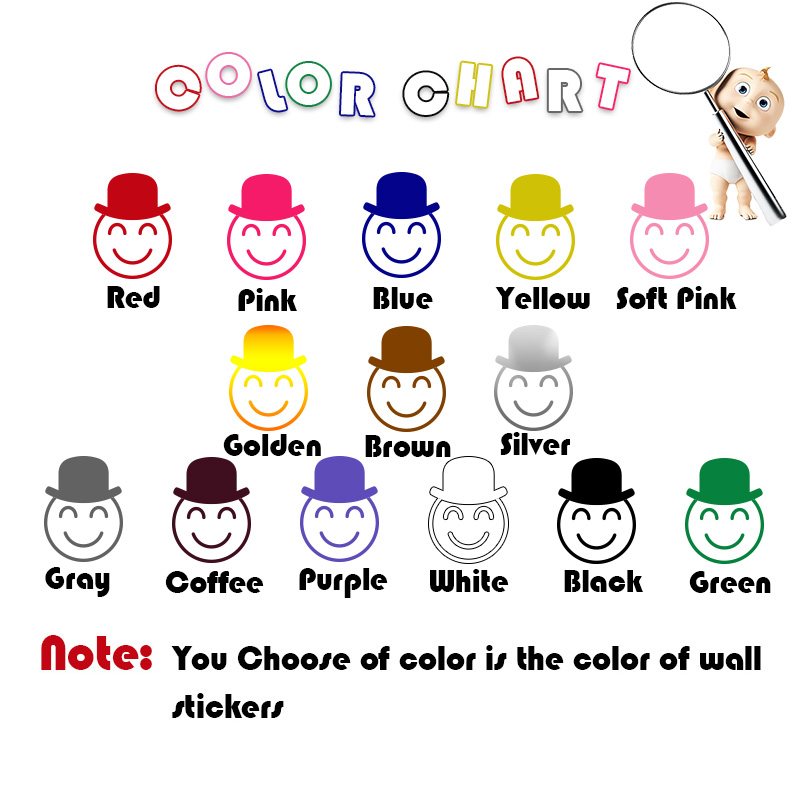 Cartoon Pattern Home Decor Vinyl Wall Stickers Nursery Room Decor Pvc Wall Decals in Wall Stickers from Home Garden