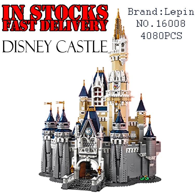 LEPIN 16008 4080pcs Creator Cinderella Princess Castle anime action figures Building Blocks Bricks Toys for children brinquedos lepin 16008 cinderella princess castle city model building block kid educational toys for children gift compatible 71040