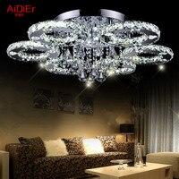 Creative Led Ceiling Lights Modern Minimalist Bedroom Lamp Crystal Ighting LED Stainless Steel Wire Cut Luxury