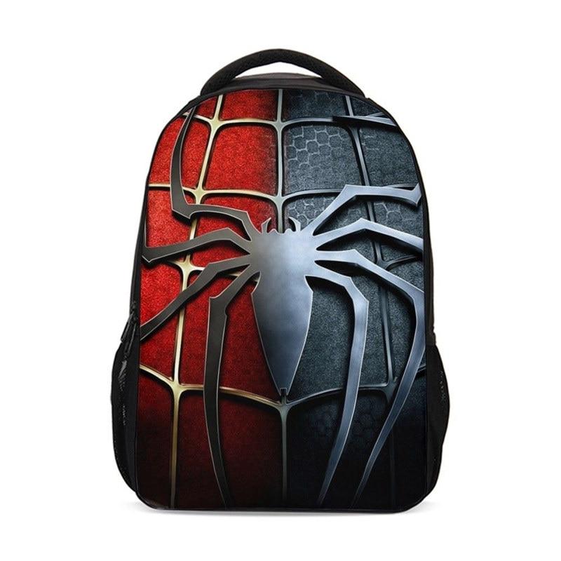 Backpack For Boys Girls Fashion Marvel Super Hero Spiderman Pattern School Bags Teenage Children Casual Daypacks