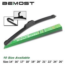 Auto Car Wiper Blade Universal J Type Frameless Natural Rubber Windscreen Windshield 14161718192021222426