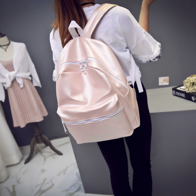 2017 Female escolar mochilas new fashion shoulder bag girls cute backpack student bright schoolbag wild leisure