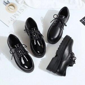 Image 5 - אירופאי אביב קטן נעלי נשים רטרו בריטי רוח 2019 חדש קוריאני גרסה של עבה בלעדי נעלי נעלי נשים אופנה