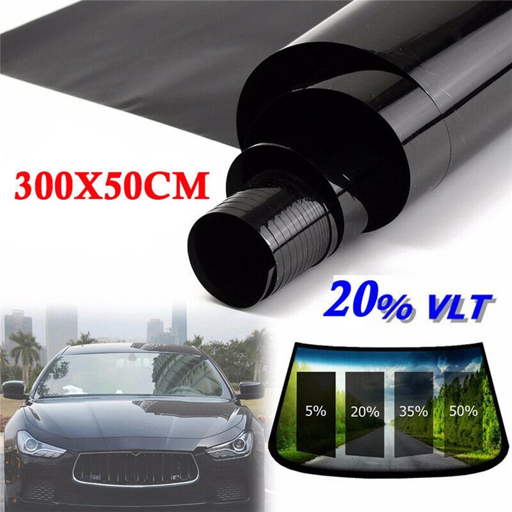 300*50 Cm VLT Black Film Roll Tint Window Car Tint Auto Glass Window Summer House Sunscreen UV Adhesive Film Stickers