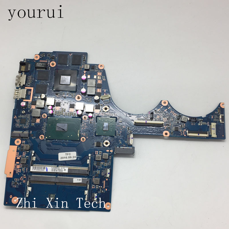 yourui For HP 15-AX Laptop Motherboard W/<font><b>i7</b></font>-<font><b>6700HQ</b></font> <font><b>cpu</b></font> 856676-601 859735-001 856675-601 DAG35AMB8E0 100% Tested Good image