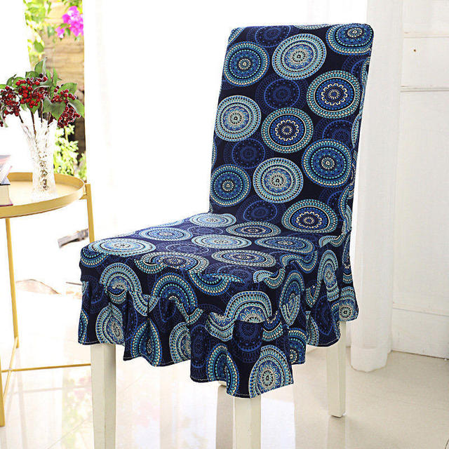 chair covers vintage ergonomic qld anti dirty dining cover with flounce 1 pcs universal stretch spandex seat