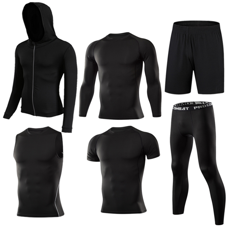 Image 3 - Gym Mens Running Fitness Sportswear Athletic Physical Training Clothes Suits Workout Jogging Sports Clothing Tracksuit Dry Fit-in Running Sets from Sports & Entertainment on AliExpress