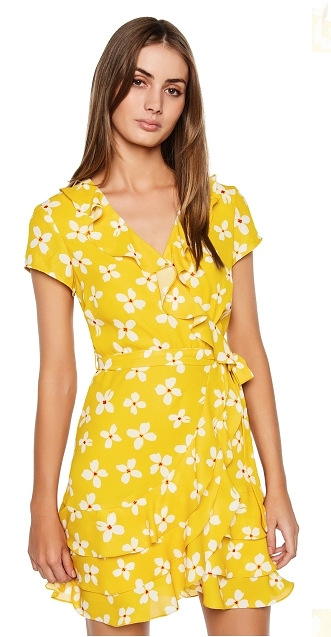 Women Short Sleeve Casual Fashion Spring Summer Floral Dress with Ruffles Details Vestidos De Fiesta Vestidos Verano 2018