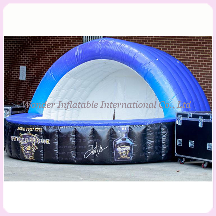 Blue oxford inflatable booth trade show tent inflatable bar inflatable desk counter for advertising