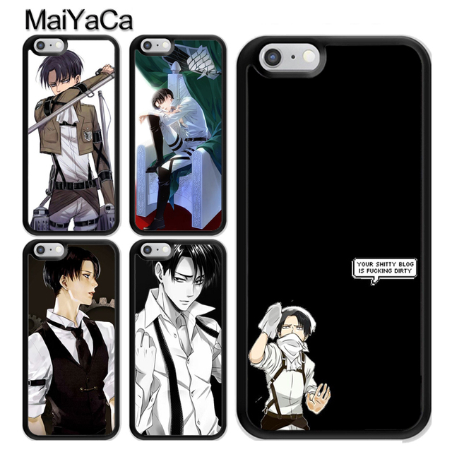 Levi Ackerman Attack on Titan Plastic Case Cover For iPhone