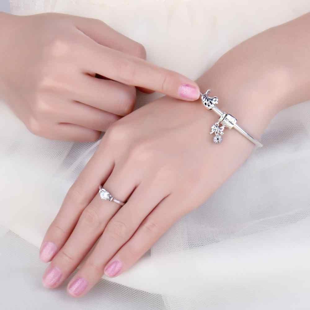Jewelrypalace sino 925 contas de prata esterlina encantos prata 925 original apto pulseira de prata 925 grânulo original para fazer jóias