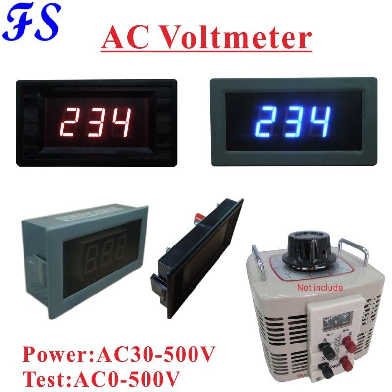 Medidor do painel do voltímetro da c.a. 500 v 220 v 120 v para o regulador de tensão monofásico de variac medidor da tensão do diodo emissor de luz de yb5130 ac 0-v