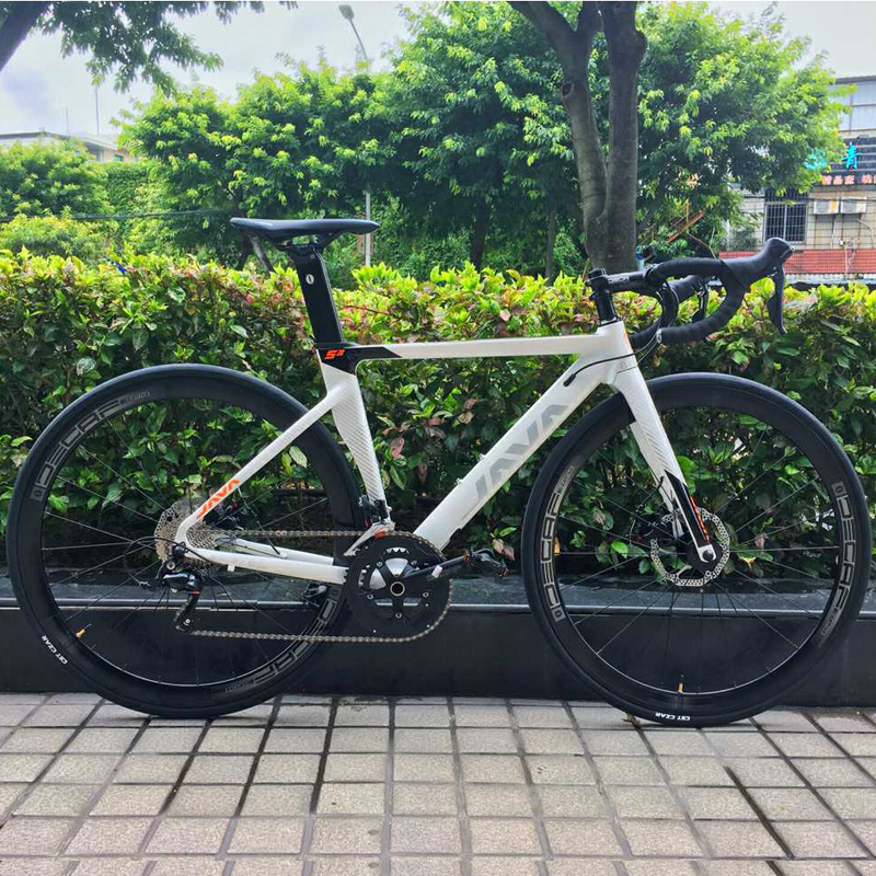 2019 JAVA Siluro3 Aluminum Alloy Road Bike Double Disc Brake 18 Speed Road Bicycle SORA R3000 2019 JAVA Siluro3 Aluminum Alloy Road Bike Double Disc Brake 18 Speed Road Bicycle SORA R3000 Shift System bike Carbon Fork