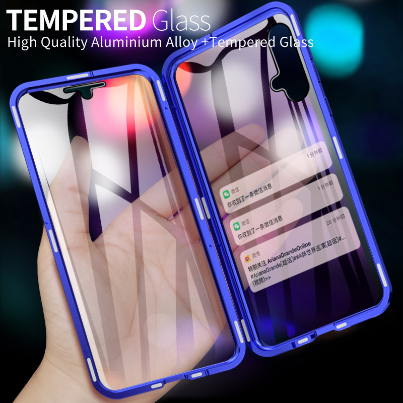 Metal Magnetic Front Back tempered Glass Case For Huawei Nova 3i /Nova 3 Cases For Huawei Nova4E/Nova 4 Bumper Metal Frame Coque-in Fitted Cases from Cellphones & Telecommunications on AliExpress - 11.11_Double 11_Singles' Day 1