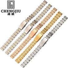 Stainless Steel 10 12 14 16 18 20 mm Ladie Watch Strap For Daniel Wellington Bracelet Brand Womens Metal Watch Band