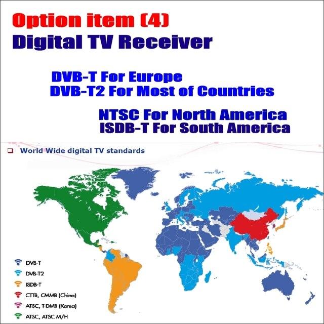 Liandlee Car Analog TV Tunner / Digital TV Receiver DVB-T DVB-T2 ISDB-T ATSC-T Box