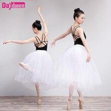 Lange Ballet Tutu Wit Ballerina Tutu Vrouwen Lyrical Tulle Ballet Rok Met Onderbroek