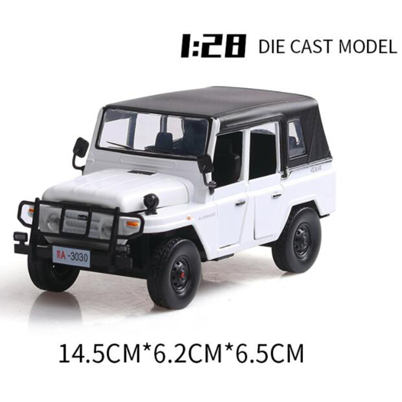 14.5CM 1:28 Scale White Color Metal Alloy Jeep Car Off Road SUV Pull Back Diecasts Vehicle Model Toy Children Kids Gift Decorate image