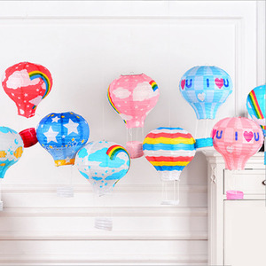 Image 5 - 22 цвета, 12/16 дюймов, бумажные фонарики для печати на воздушном шаре, свадебные украшения, праздничные украшения для бара, самодельные вечерние подвески