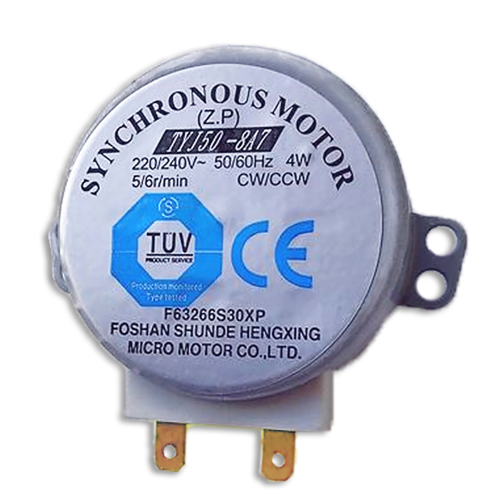 High Quality New Voltage AC 220V-240V 4W Synchronous Motor Model TYJ50-8A7 Microwave Tray Motor Speed 5/6 r/min цена