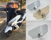 Universal Motorcycle Risen Transparent Windshield Bracket Set Screen Protector Adjustable Lockable For BMW Kawasaki Harley
