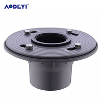 AODEYI 2 Inch PVC Shower Drain Base With Rubber Gasket Bathroom Accessories Drain Base Hold Fixed Push In Type Shower Drain Base