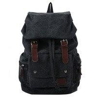 Модный мужской рюкзак винтажная Холщовая Сумка на плечо рюкзак школьная сумка дорожная сумка