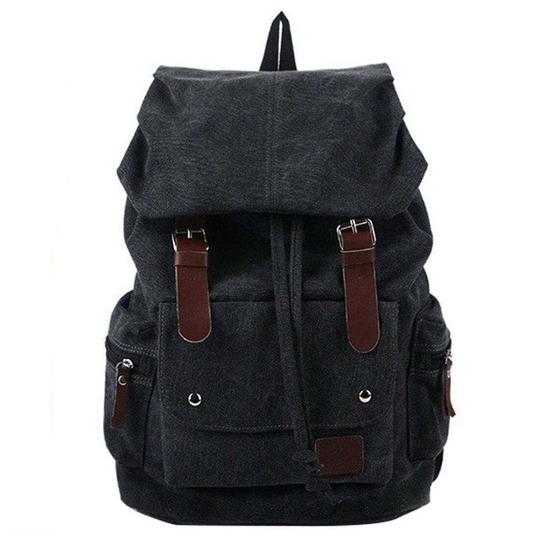 Fashion Men's Backpack Vintage Canvas Shoulder Bag Backpack School Bag Travel Bag